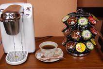 6種類(コーヒー3種類、緑茶、紅茶、ウーロン茶)から選べるおやつ時のドリンク